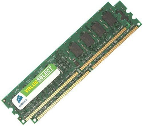 512mb Pc2 3200 240 Pin - Corsair Value Select memory - 1 GB ( 2 x 512 MB ) - DIMM 240-pin - DDR II ( VS1GBKIT667D2 )