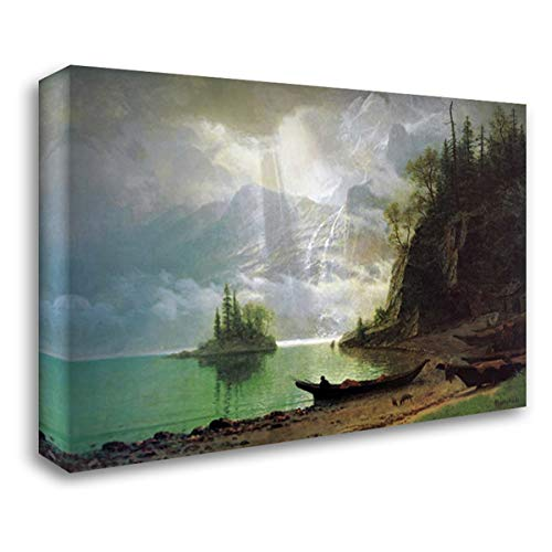 The Island 24x17 Gallery Wrapped Stretched Canvas Art by Bierstadt, Albert (Bierstadt Albert Canvas)