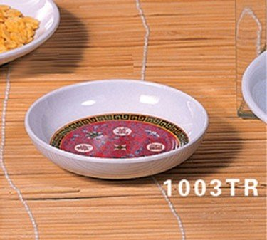 Thunder Group Asian Melamine Longevity Sauce Dish, 3 3/8 inch - 60 per case.