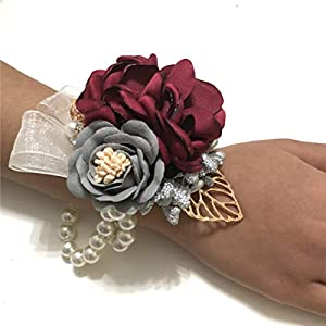 Wedding Bridal Wrist Corsage Graduation Party Wrist Corsage Bridesmaid Wrist Flower Corsage Flowers for Wedding 52