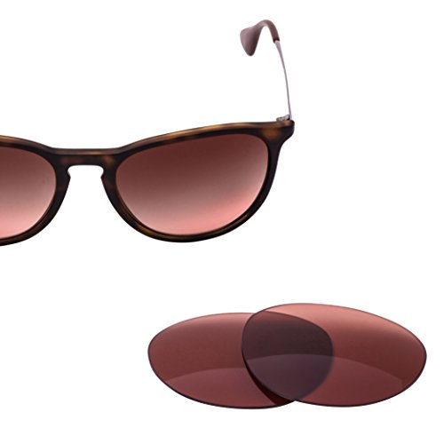 LenzFlip Replacement Lenses for Ray Ban Erika RB4171 - Rose Polarized - Bans Ray Luxottica