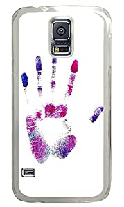 Samsung Galaxy S5 patterns abstract hand 85 PC Custom Samsung Galaxy S5 Case Cover Transparent