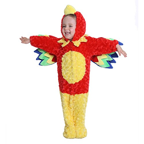 [Baby Halloween Parrot Costume for Baby Boys and Girls - From 12 Months to 24 Months - Perfect Cosplay & Theme party Dress Up Outfit Gift] (Parrot Halloween Costumes Baby)