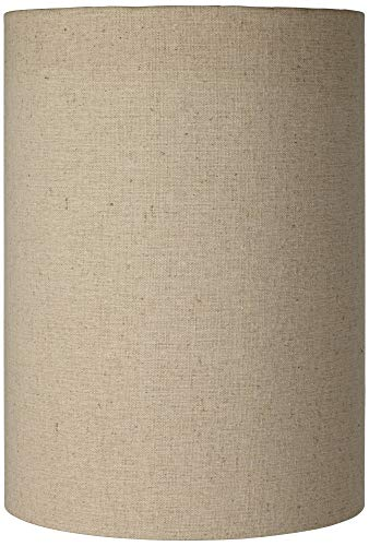 Cotton Blend Tan Cylinder Shade 8x8x11 (Spider) - Brentwood