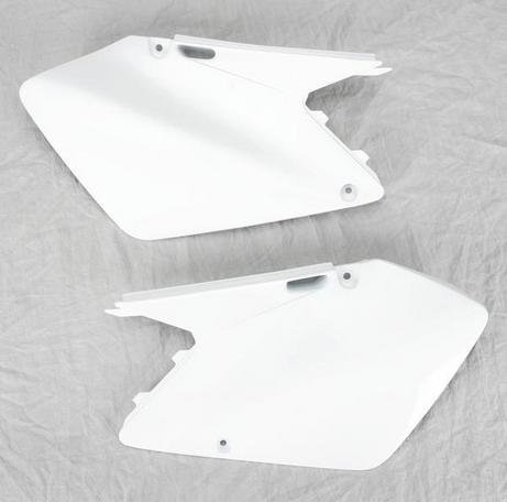 UFO Plastics Side Panels White for Suzuki RM 125 250 03-08 (Side Suzuki Panels)