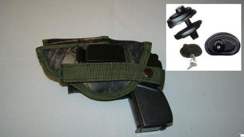 Smith & Wesson Cs40 Camio Colored Gun Holster, Hunting, Law Inforcement, 312c, Comes with Free Trigger Lock ,