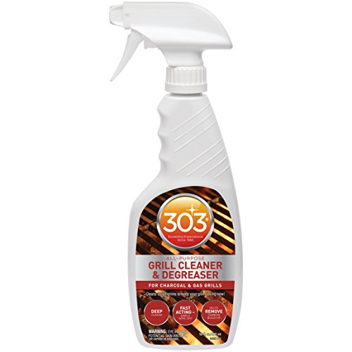 303 (30221CSR) Grill Cleaner and Degreaser Spray - Professional Strength, Biodegradable for BBQ Grills and Grates, 16 fl. Oz
