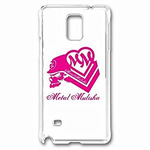iCustomonline Metal Mulisha Maiden Protective Back PC Crystal Clear Case for Samsung Galaxy Note 4