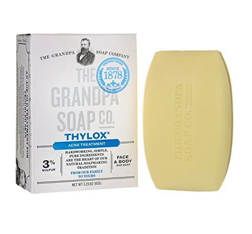 Grandpas Thylox Acne Treatment Soap 3.25 oz (Grandpas Deodorant)