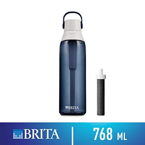 Brita 26 Ounce Premium Filtering Water Bottle with Filter - BPA Free - Night Sky (Brita Filter Best Price)