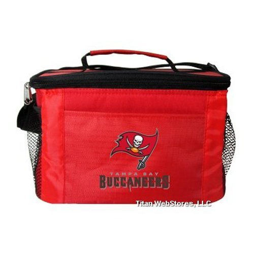 - NFL Football Tailgating 6 Pack Cooler - Lunch Box Cooler (Buccaneers)