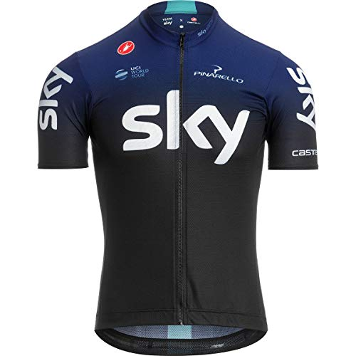 - Castelli Team Sky Squadra Full-Zip Jersey - Men's Black/Dark Ocean, L
