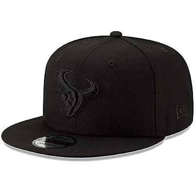 New Era Houston Texans Hat NFL Black on Black 9FIFTY Snapback Adjustable Cap Adult One Size