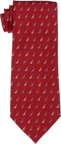 Nautica Men's J-Class Allover Tie, Red, One Size