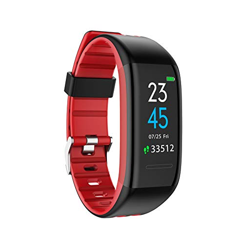 FFQNG Fitness Tracker, Motion Tracker Fitness Watch, Color Screen Multi-Sports Mode Real-Time Heart Rate Monitoring for Children, Women and Men