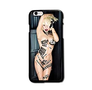 "Tomhousomick Custom Design Women's Fashion Cases Sexy Singer Lady Gaga Case for iPhone 6 Plus 5.5"" Back Cover #195"