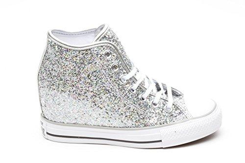 All Silver Gliteer Mid Grigio Converse Lux Star 6nWR11q