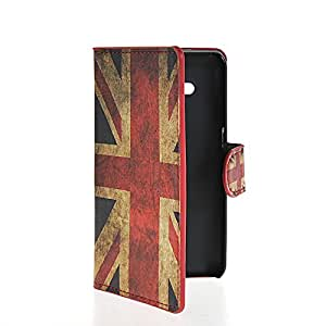 LUCKYCASE UK British Flag Slim Funda Cartera Carcasa Case Caso Cuero Tapa Flip Cover Para Samsung Galaxy Core 2 II G355H
