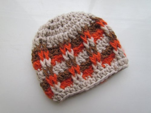 CROCHET PATTERN PDF-Front Post Checker Hat (Beanie Baby Checkers)
