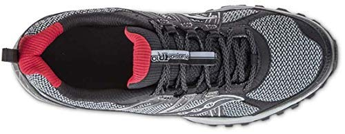 Saucony Men's Grid Excursion TR10 Running Shoe, Grey/Black/Red, 8 M US by Saucony (Image #8)