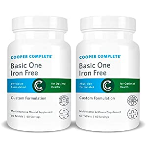 Cooper Complete – Basic One Multivitamin Iron Free – Daily Multivitamin and Mineral Supplement -…
