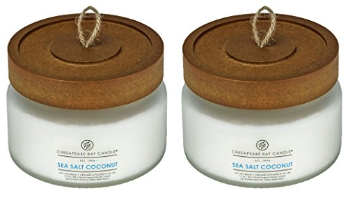 Chesapeake Bay Candle Scented Candle, Sea Salt Coconut, Small Jar, 2-Pack