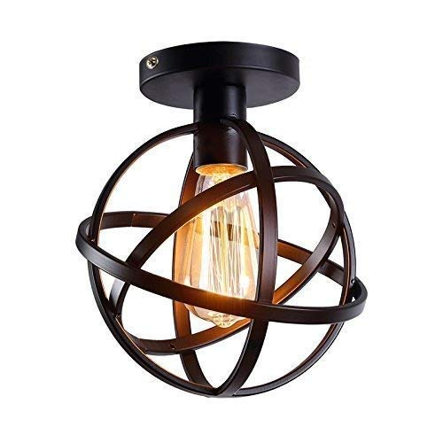 Qyyru Vintage Ceiling Lighting Vintage Chandelier Pendant Light Industrial E14 Socket with Globe Shade Brass for House Loft Living Room Bar Restaurants Hanging lamp Coffee Shop Club Decoration