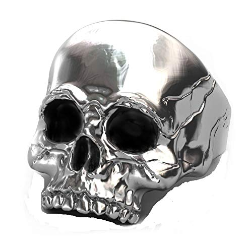 (EVBEA Mens Ring Biker Punk Gothic Jewelry Vintage Male Skull Rings Death Rock and Roll)
