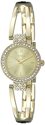 Geneva FMDG039 12mm Alloy Gold Watch (Geneva Gold Bracelets)