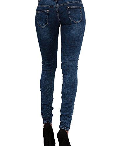Denim Crayon Bleu Jeans Fonc Slim Femme Taille Pantalons 1wdCqpHT