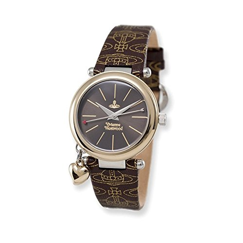 Ladies Vivienne Westwood Orb Brown Logo Strap Watch