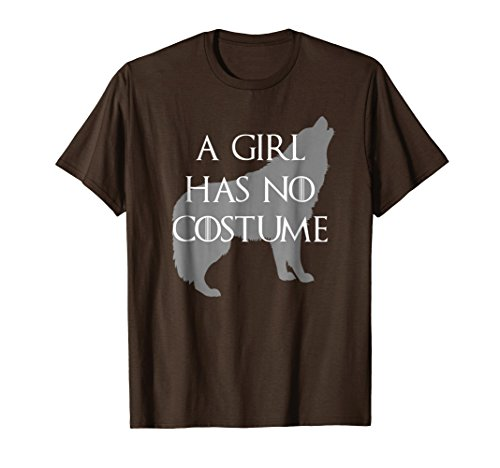 Mens A Girl Has No Costume Wolf Halloween T Shirt Large Brown for $<!--$19.99-->
