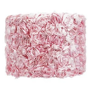 Rose Garden Drum Lamp Shade Color: Pink by Jubilee Collection (Image #1)
