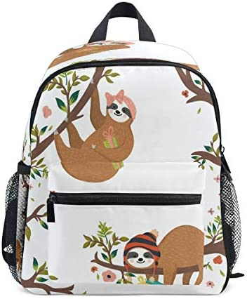 Blueangle Cute Baby Sloth Kids Backpack for Toddler School BagChest Clip Travel Bag 3-8 Years Old