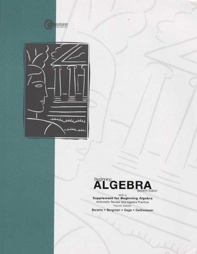 Beginning Algebra Seventh Addition (Seventh Edition)