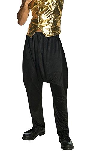 Rubie's Men's Old School Black Costume Pants, As Shown, Standard