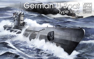 AFVクラブ 1/350 ドイツ海軍 潜水艦 Uボート タイプVII/C プラモデルの商品画像