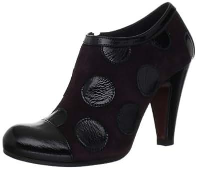 Chie Mihara Women's Verbena Ankle Boot,Black/Grape,36.5 EU/6-6.5 M US