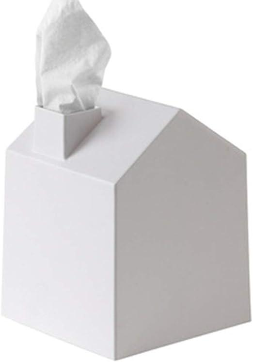 MMMP Cubierta de la Caja de pañuelos Forma de la casa Caja de pañuelos Mesa de Comedor Cocina de Estilo nórdico Caja de pañuelos for el hogar Bandeja de Rollo Creativa Vertical: