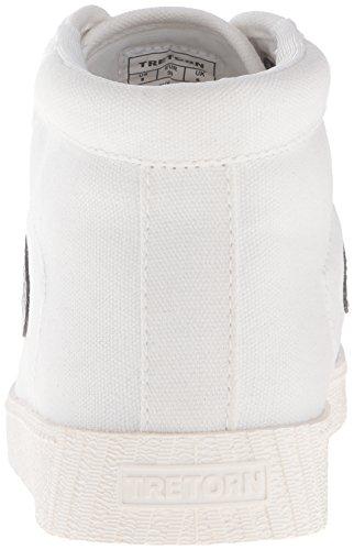 Tretorn White Silver White Sneaker Women's Vintage Nylitehi Vintage Fashion rqr807