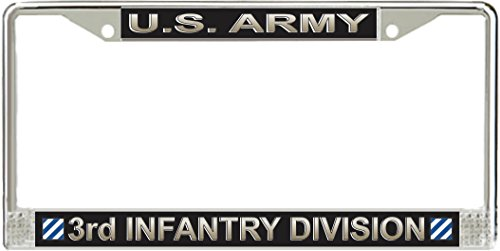 MilitaryBest U.S. Army 3rd Infantry Division License Plate Frame