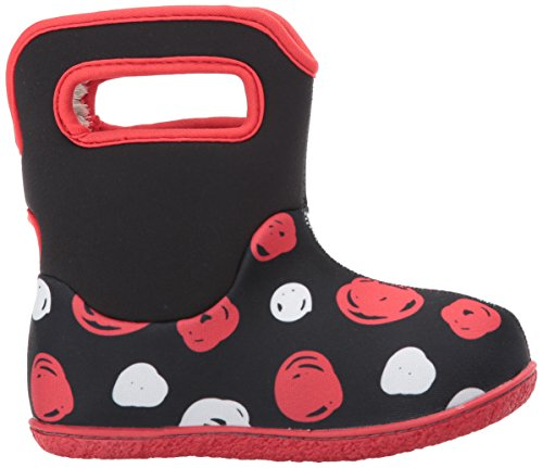 Bogs Classic Baby Winter Black Multi Snow Boot Sketch Dots Penguins qgPSwq