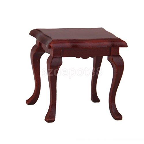 Handmade Wooden Furniture 1/12 Stool Dollhouse Living Room Coffee