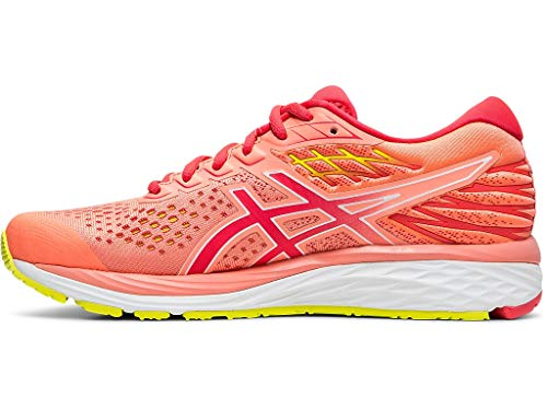ASICS Women's Gel-Cumulus 21 SP Running Shoes, 5M, Sun Coral/Laser Pink
