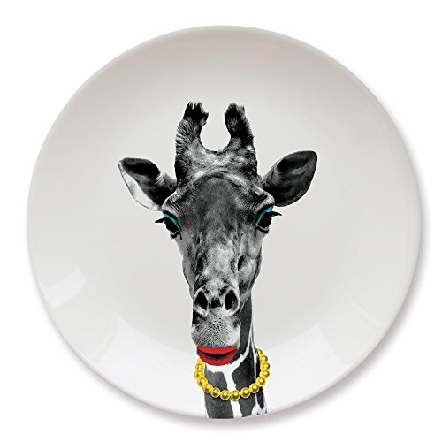 MUSTARD Ceramic Dinner Plate I Dishwasher safe I Dinnerware - Wild Dining Giraffe -