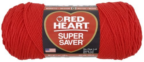 Price comparison product image Coats Yarn Red Heart Super Saver Yarn-Hot Red,  Other,  Multicoloured by Coats: Yarn