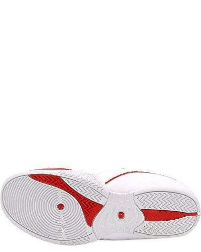 UND 1 Herren Rocket 3.0 Mid Basketballschuh Weiß / Weiß / Rot
