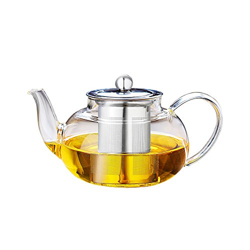 Cosy-Yc 1000ml Borosilicate Glass Teapot Coffee Pot With Hea
