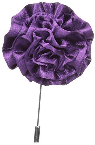 Stacy Adams Men's Flower Lapel Pin, Purple One Size