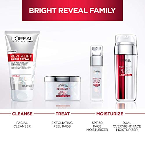 41R9tPpA5vL - Face Moisturizer with SPF 30 by L'Oreal Paris, Revitalift Bright Reveal Anti-Aging Day Cream with Glycolic Acid, Vitamin C & Pro-Retinol to Reduce Wrinkles & Brighten Skin, 1 fl. oz.